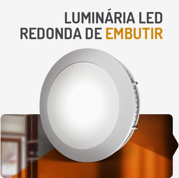 Luminária LED redonda de embutir u2013 Spotlux